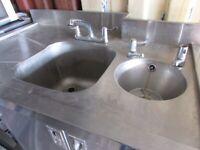 Single Sink & Hand Basin Unit with Cupboard Under. £200 ono Nr Bristol