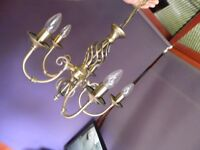 Traditional Chandelier Classic Barley Twist 5 Arm Ceiling Pendant Light Fitting