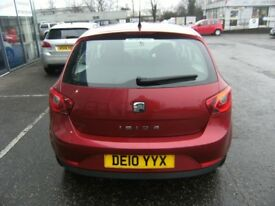 2010 10 SEAT IBIZA 1.6 SPORT 5D 103 BHP **** GUARANTEED FINANCE **** PART EX WELCOME