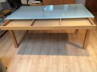 Ikea glass topped dining room table