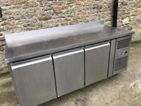 Blizzard 3 door counter freezer stainless