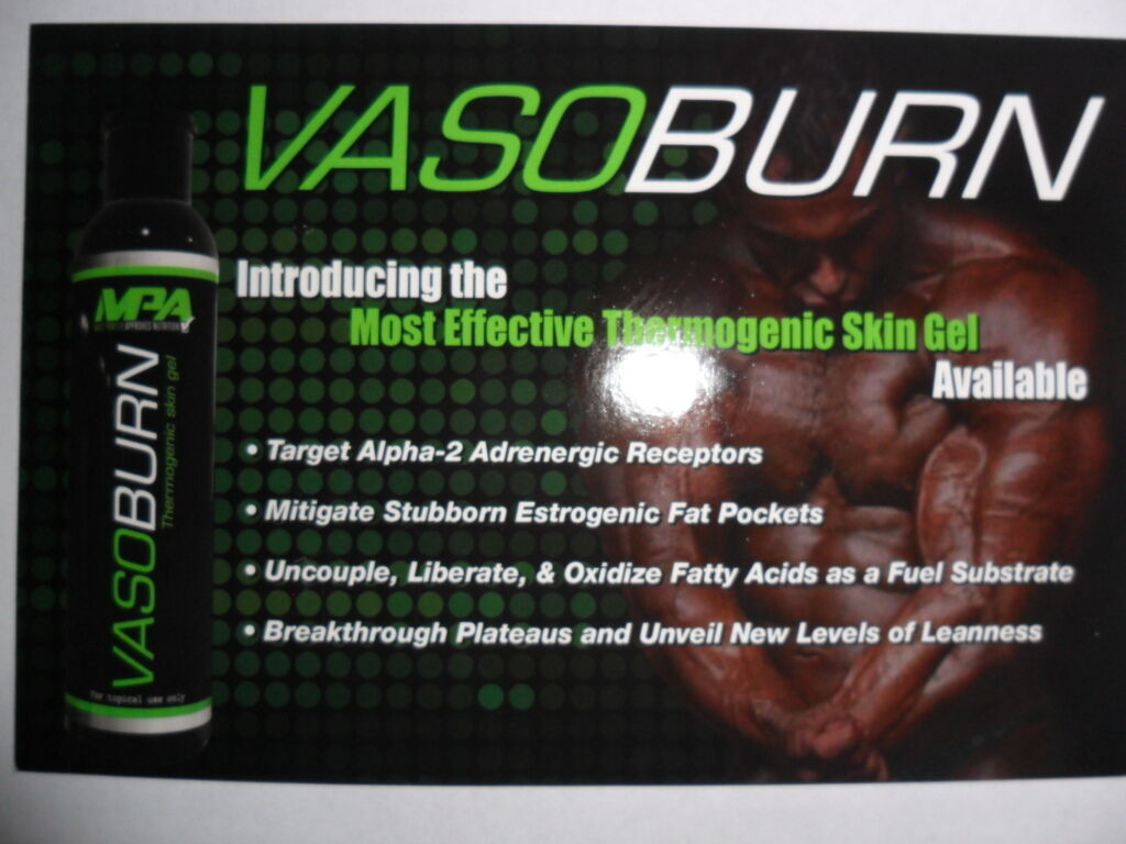 MPA VASOBURN 3.38 oz Thermogenic Topical Skin Gel Fat Burner  3.38 oz Pump  1