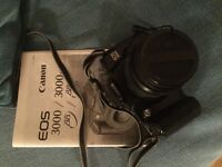 Canon EOS 3000 camera in case