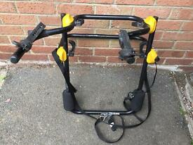 Spare wheel bike rack