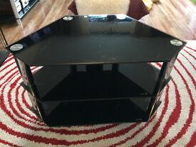 Comtempory Black and Chrome TV Stand