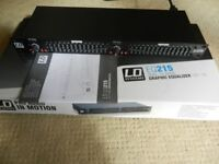 """LD Systems EQ 215, 19"""" Rack Stereo Graphic EQ, Mint in Original Box, Very Light Use."""