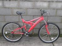 unisex bike red trax 26''