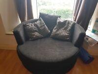 Black love/cuddle chair