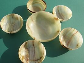 ONYX BOWLS - unusual side dishes for nibbles at parties.I large 5 small