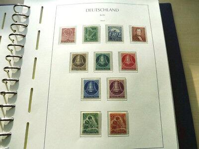 GUTE SAMMLUNG Berlin 1948 - 1990 Postfrisch im Vordruck, ab 1950 komplett !!!