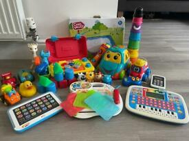 Selection of baby and toddler toys