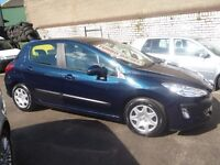 Peugeot 308 s HDI,1596 cc 5 door hatchback,clean tidy car,great mpg,£30 a year tax,cheap to insure