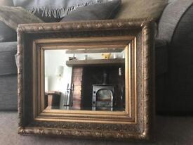 Antique bevelled edge mirror