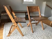 Vintage retro folding chairs for dining project / resto