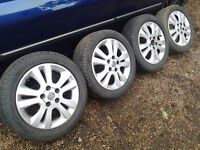 Genuine Vauxhall alloy wheels with branded tyres 5x110