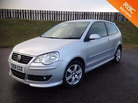 2008 VOLKSWAGEN POLO MATCH 1.2 6V 60PS - 57K MILES - F.S.H - EXCELLENT VALUE - 6 MONTHS WARRANTY