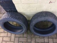 Pair of 195/45/15 yokohama tyres with plenty of tread