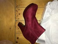 Fantastic Red suede boots still boxed up