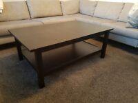 Coffee Table Ikea Hemnes in black