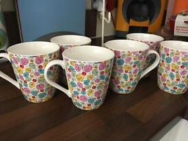 6 x Cath Kidston Mugs and Stand