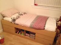 ARGOS MALIBU CABIN BED COMPLETE WITH MEMORY FOAM MATTRESS. GOOD CONDITION. SMOKE FREE HOME