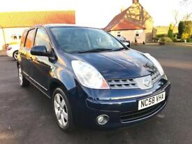 NISSAN NOTE 1.6 TEKNA 5d 109 BHP *ONE OWNER, FULL SERVICE* (blue) 2009
