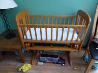 Cosatto Wooden glider Crib with Mothercare Mattress