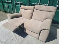 NEW Furniture Village Snug Grey Fabric 2 Seater Recliner Sofa DELIVERY AVAILABLE