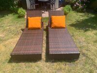 Rattan Sun Loungers