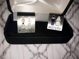 Novelty bridegroom cufflinks