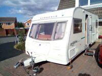 avondale argenta 555 4 berth caravan fixed bed 2005