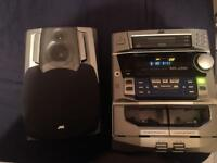 JVC 3 CD changer, twin tape stereo