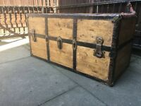 Vintage Travel Trunk Coffee Table Wardrobe Toy Box