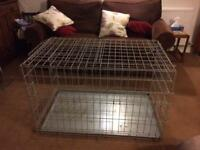 Dog cage large heavy duty metal.
