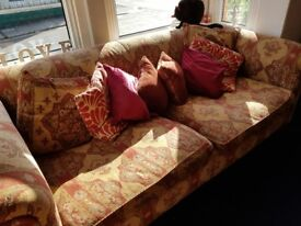 Large, solid 4 seater sofa with fire labels. Free but needs collecring ASAP.