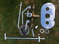chrome concealed shower valve kit