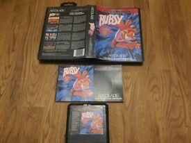Sega Mega drive Bubsy complete in box with manual