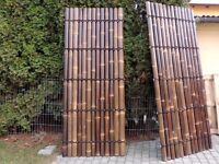 BAMBOO PANELS, FENCES, DECORATIVE WALLS from BLACK BAMBOO