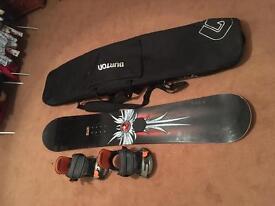 Palmer Classic Snowboard with Burton bindings and bag £150