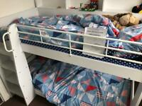 Almost New! Julian Bowen Domino bunk bed with Bedding