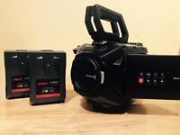 Ursa mini 4k package with V lock batteries and shoulder mount