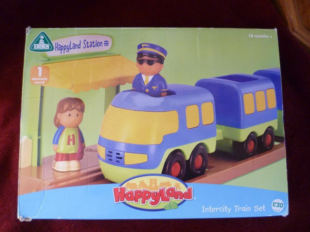 Early Learning Centre Elc Happyland Intercity Train Set Vgc Boxed