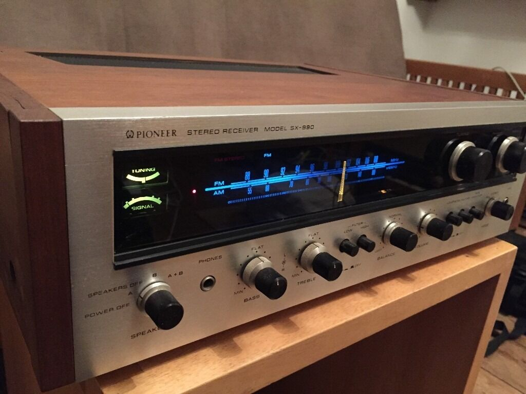 Vintage Pioneer Sx 990 Am Fm Stereo Receiver Amplifier In 70w