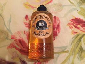 L'occitane shea butter shower oil, 250mls, new.