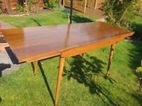 1960's Extending Dining Table and 4 Chairs