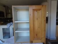 Kitchen Wall Units with Pine (Real Wood) Doors