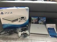 NEW - Sony PS4 Slim 500GB Glacier White w/ 2 Games