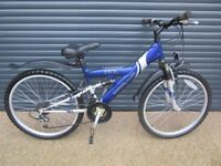 CHILDS APOLLO EXCEL SUSPENSION BIKE IN EXCELLENT LITTLE USED CONDITION. (SUIT APPROX. AGE. 9 / 10+).