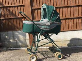 Bebecar Nice'R Pram/Pushchair/Carrycot, Dark Green, Good Condition