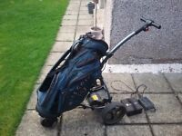 Motocaddy S1 Electric golf trolley with charger and battery